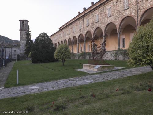 ll porticato del monastero. Abbazia di Bobbio