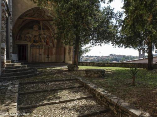 Affreschi nella cappella di San Rocco a Palazzolo sull'Oglio.