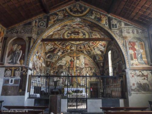 Affreschi nella chiesa di Santa Maria Assunta ad Esine.