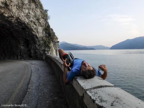 Autoscatti esaltanti sul lago d'Iseo.