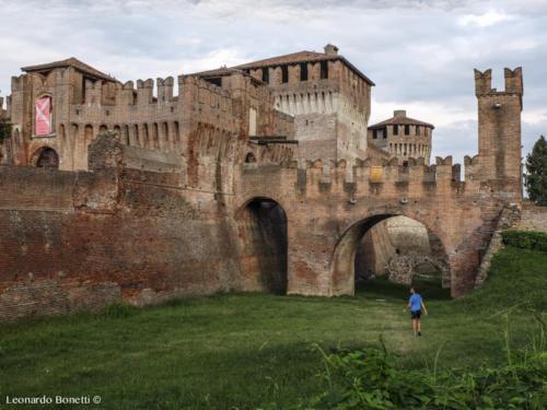 Castello di Soncino al tramonto.