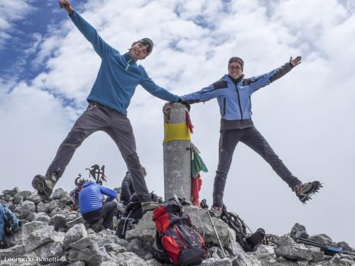 Foto in vetta al monte Perdido 3355m