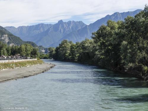 Il fiume Oglio ad Esine.