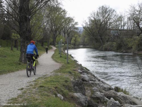 Il fiume Tevere a Città di Castello