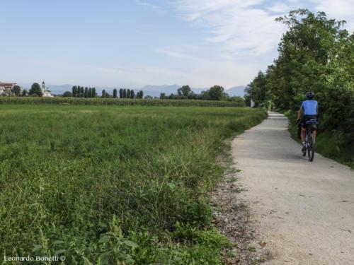 La Ciclabile del fiume Oglio tra Cividate al Piano e Pontoglio.