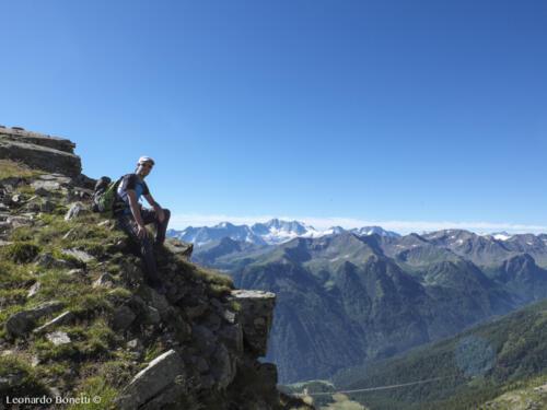 La Presanella vista dal monte Vioz