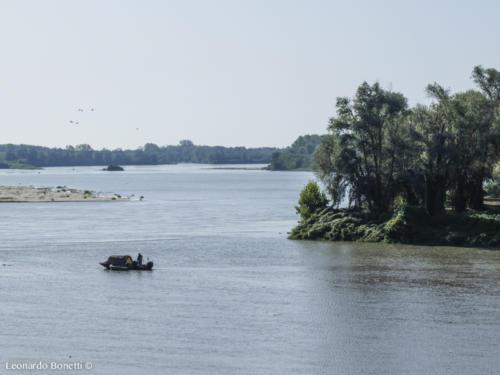 La foce del fiume Oglio.