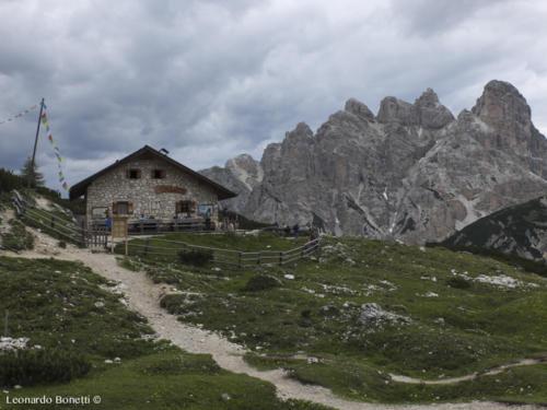 Langalm al Col Forcellina e il monte Rudo