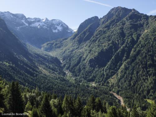 Le montagne dell'alta val Camonica.