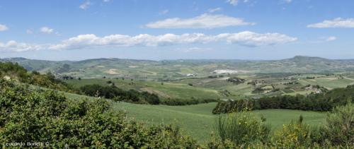 Panoramica su un mare di colline