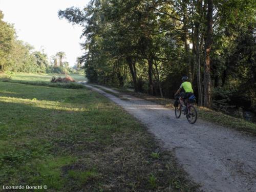 Percorsi in bici nel Parco Oglio Nord.