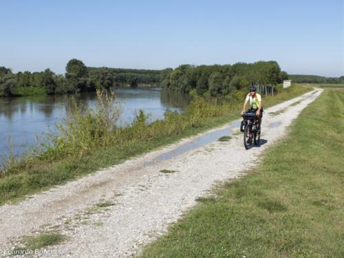 Risalita del fiume Oglio in bici. L'immensa pianura.