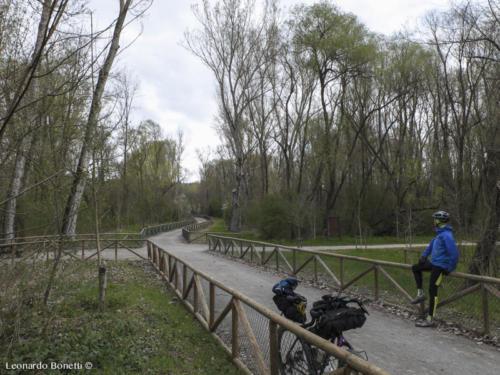 la nuova ciclabile dell'Alta val Tiberina